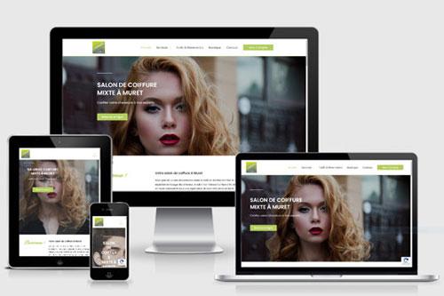 Site web salon de coiffure